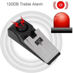 Türstopper Alarm, Lauter 120DB-Sirene Keilförmige Türalarm Stopper, Sicherheitssystem Wireless Alarm Einbrecher für Sicherheit, Reisen, Garage, Zuhause